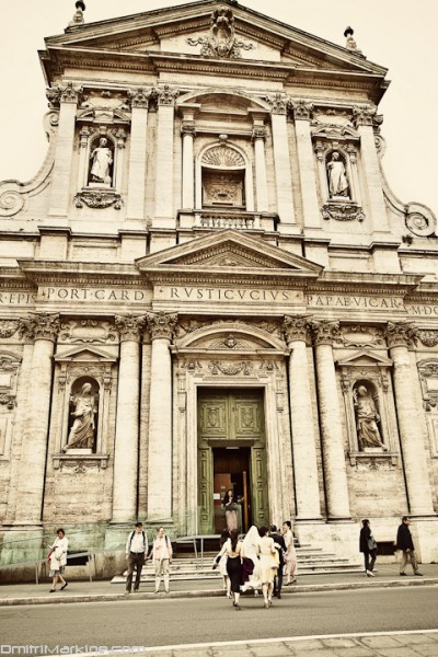 Church Wedding, Rome Italy