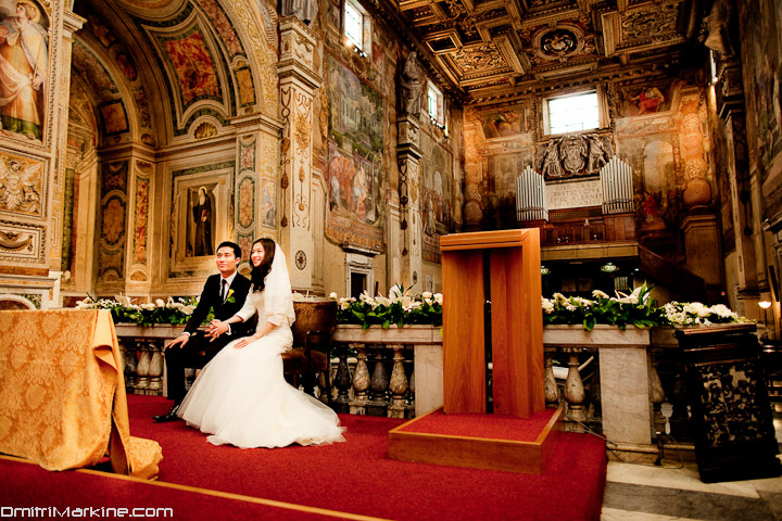 Rome Cathedral Wedding