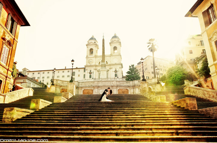 Wedding Photographer Spanish Steps Rome
