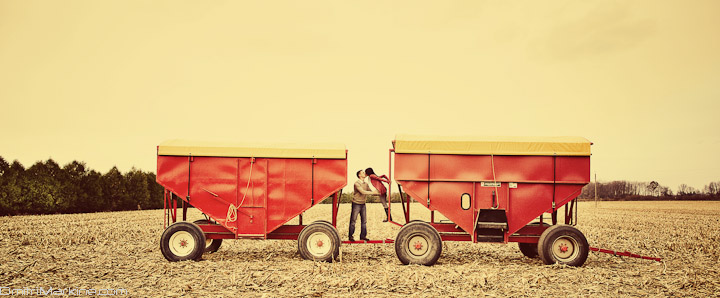 Farm engagement session photography
