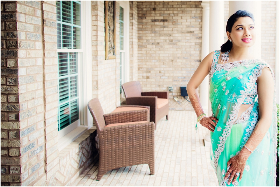 Ismaili Bride in luxury sari dress