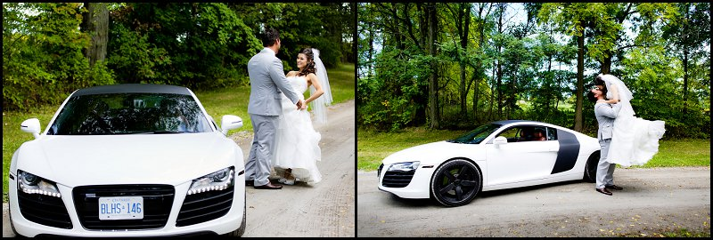 luxury-cars-wedding events first look. They met on the day of the wedding before the ceremony.
