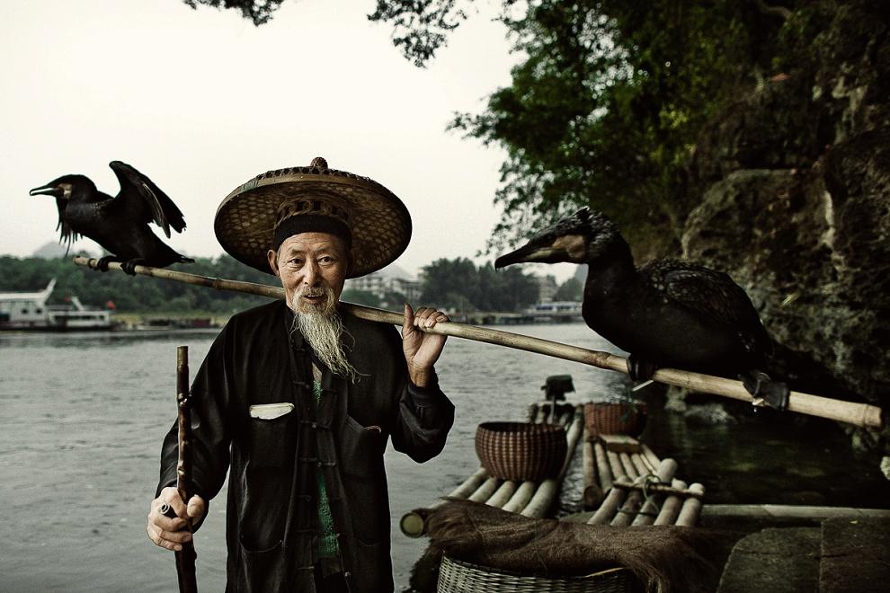 Chinese fisherman portrait.