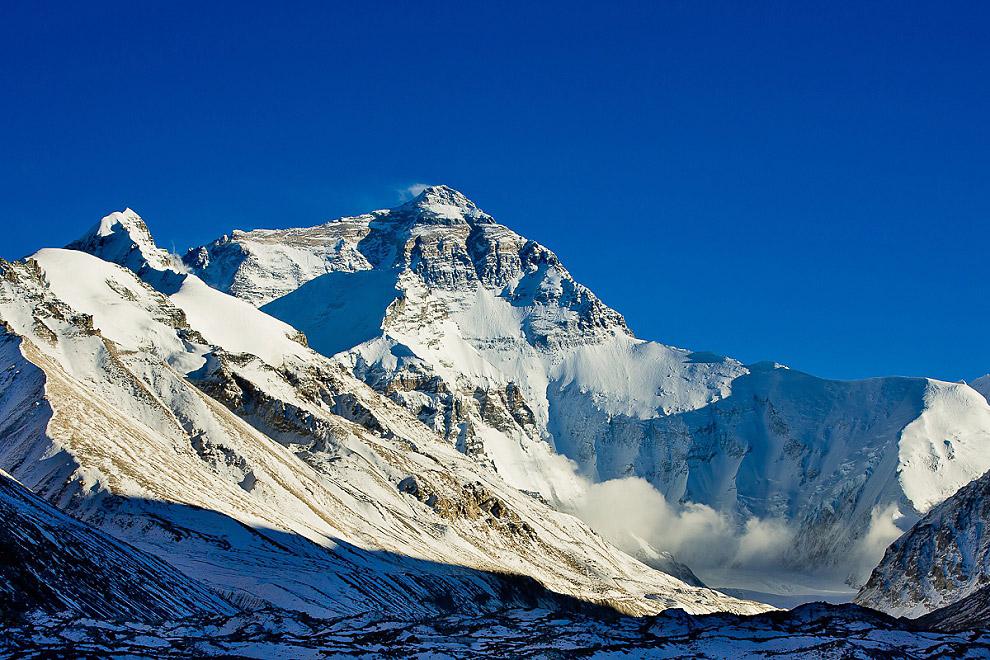 EBC base camp sunset at mount Everest in Tibet