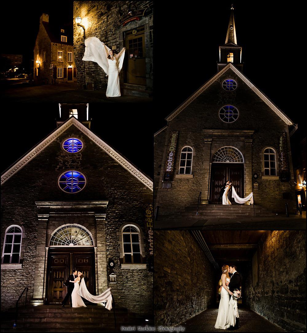 Quebec city church wedding
