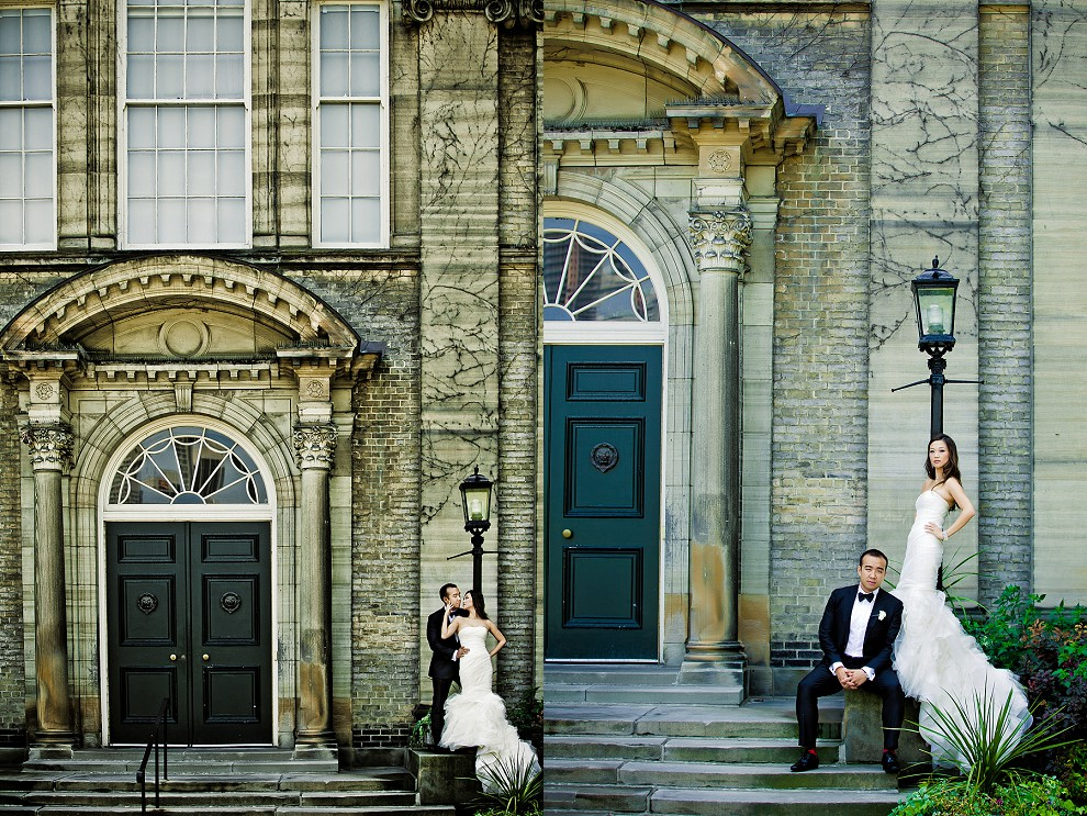 Toronto creative session with Chinese bride and groom at University of Toronto wedding venue