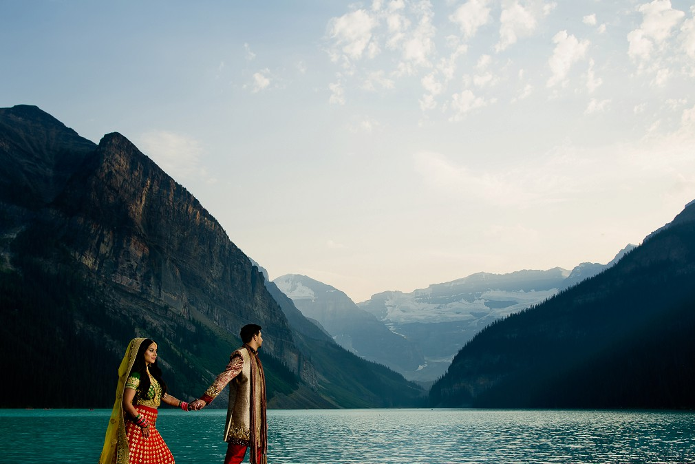 Banff Alberta indian wedding pictures