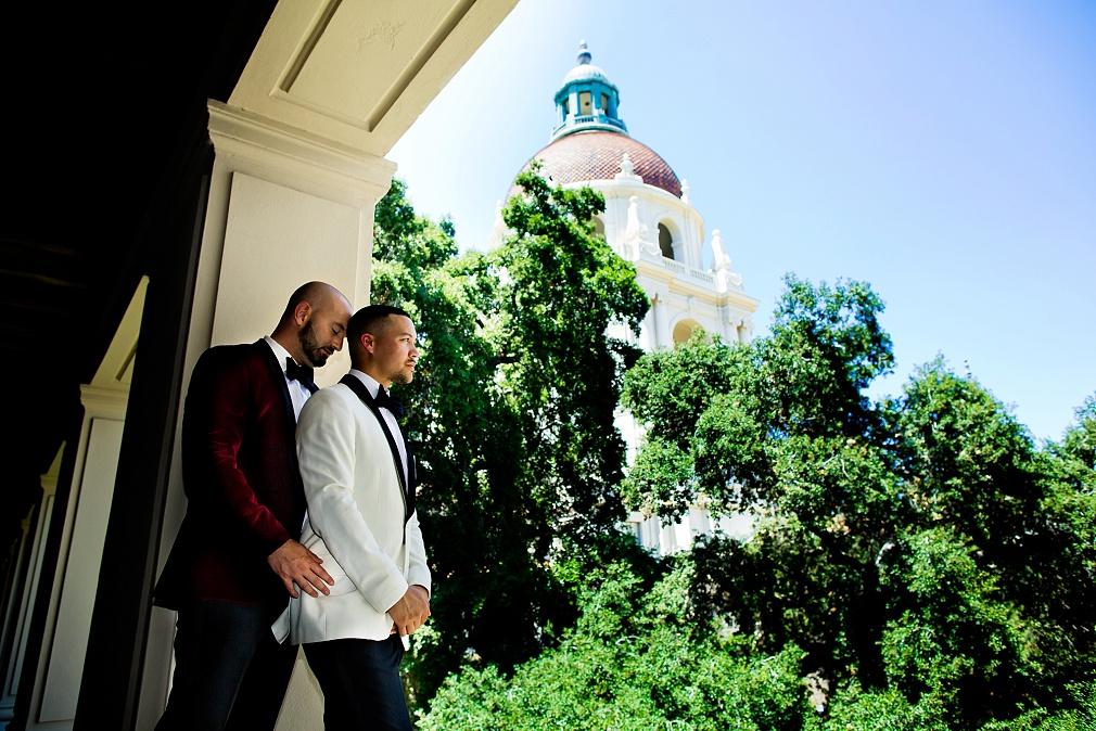 gay wedding in Pasadena, CA