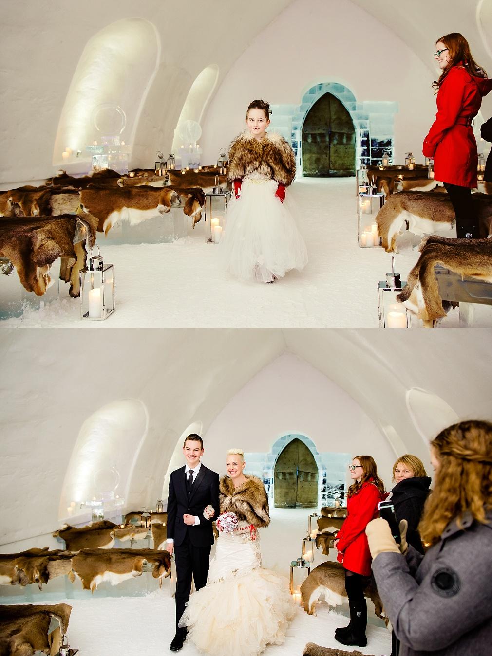 hotel de glace chapel ceremony