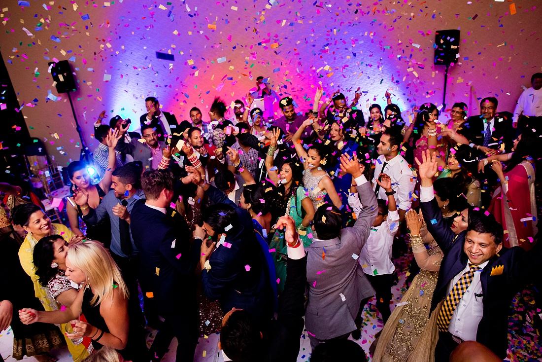 Indian wedding reception in Mexico