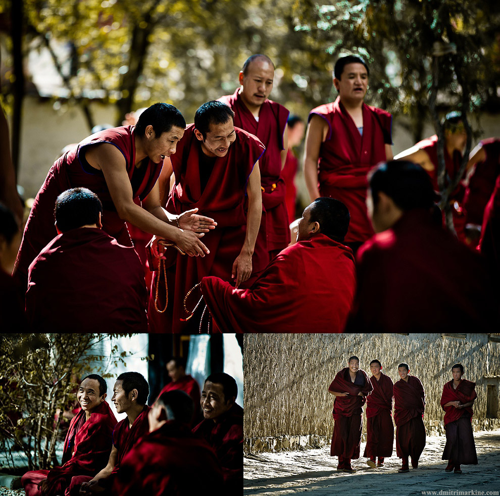 monks debating on what they've learned