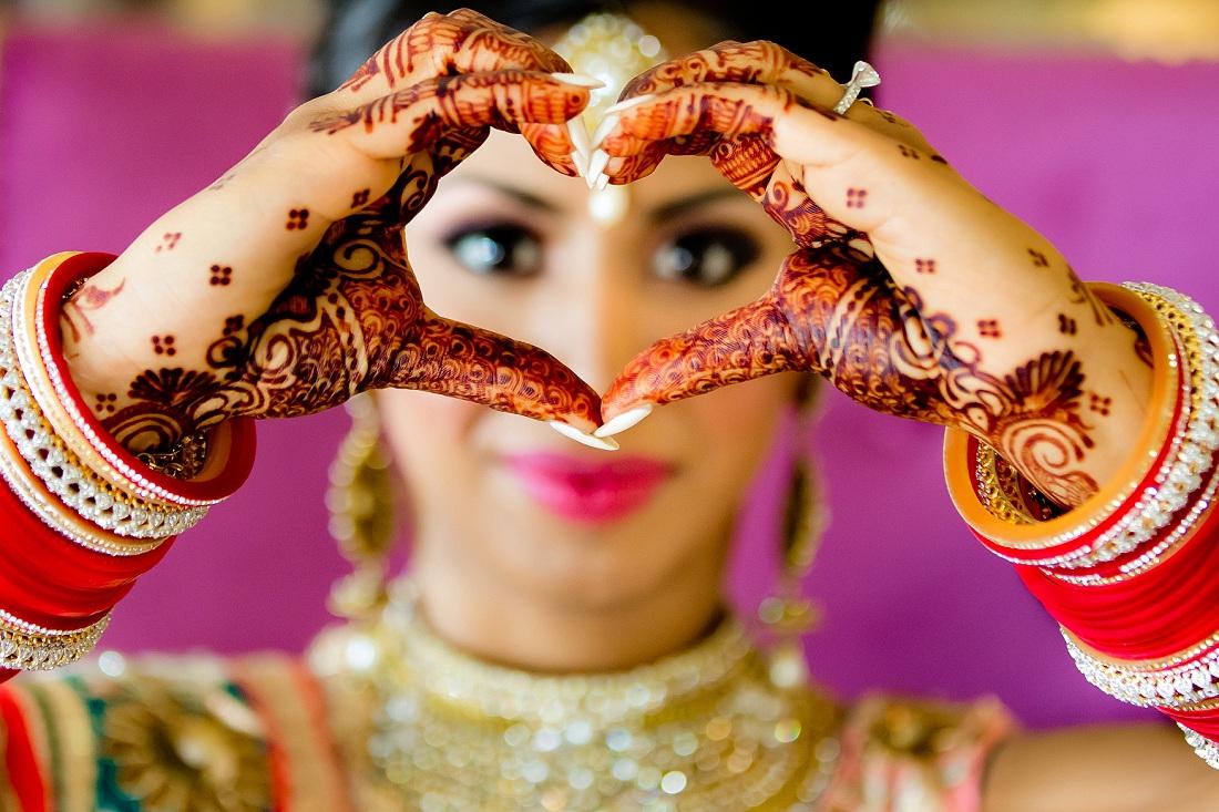 South Asian Sikh Indian bride portrait