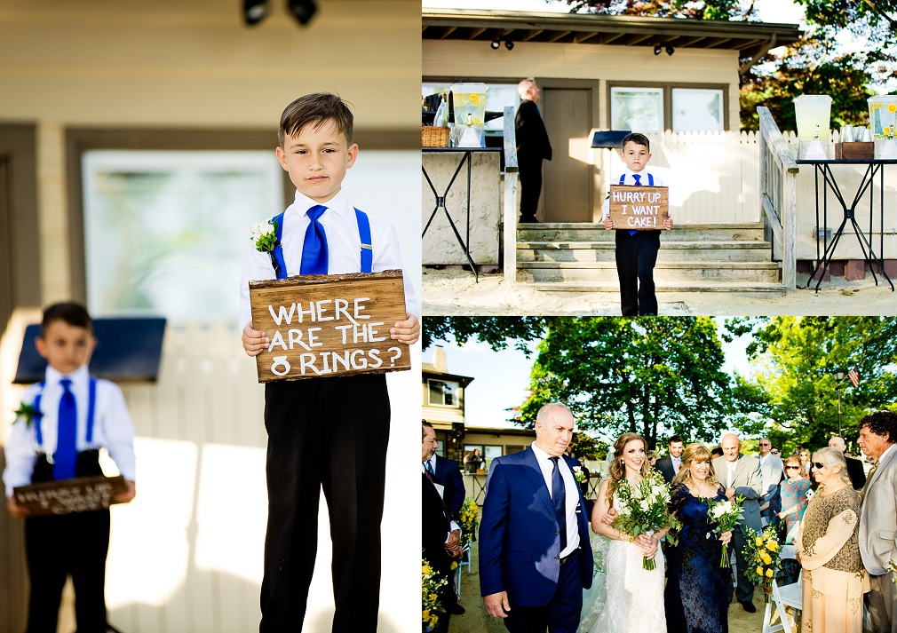Wedding ceremony at Lake Mohawk Country Club
