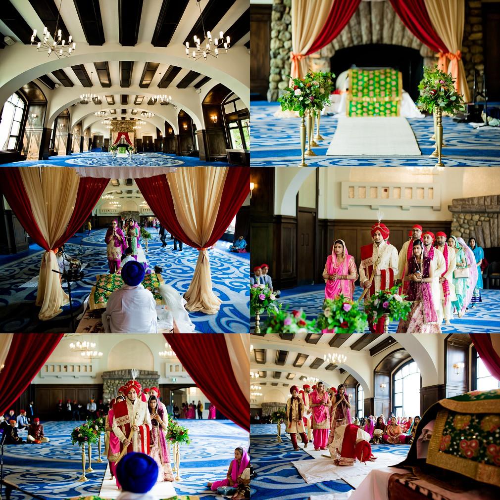 wedding ceremony Lake Louise Fairmont hotel