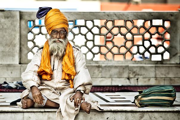 portrait of yogi in India