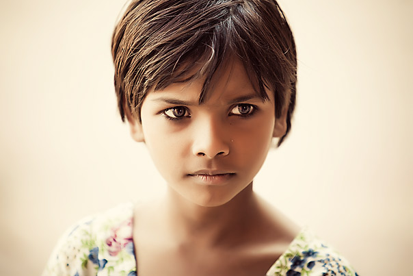 Girl in India.  Those kids are so cute!!
