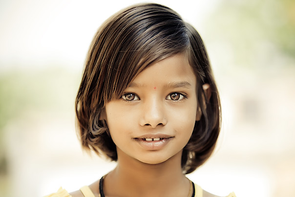Beautiful portrait of a girl in India