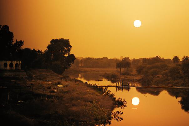 Sunset near Delhi, India
