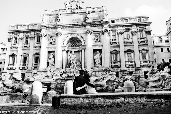 Trevi fountain Wedding Rome