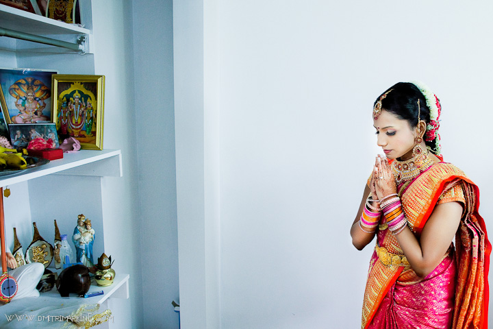 Hindu indian wedding prayer