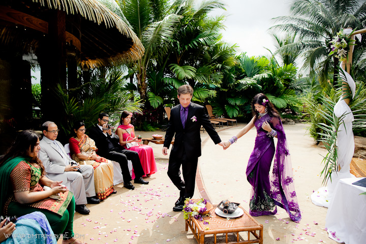 South East Asian religous wedding ceremony in Costa Rica