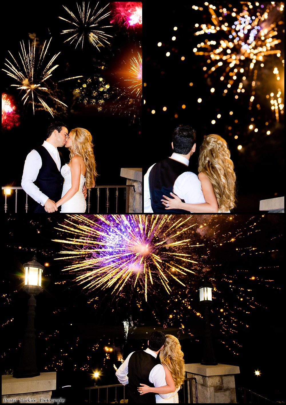 wedding fireworks at Copper Creek Golf Club wedding