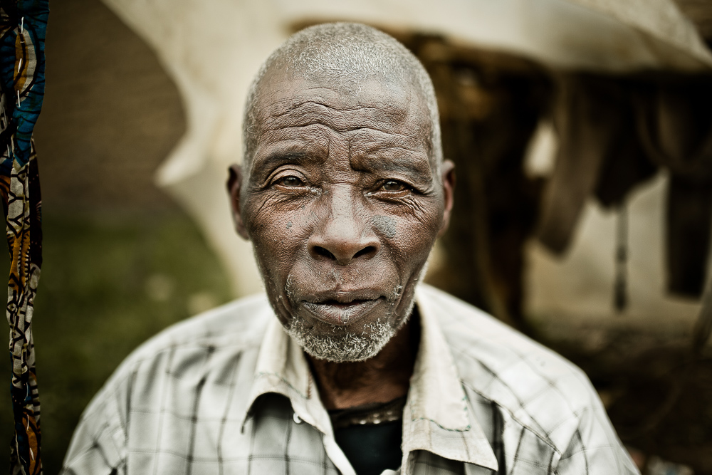 old man portrait in a village