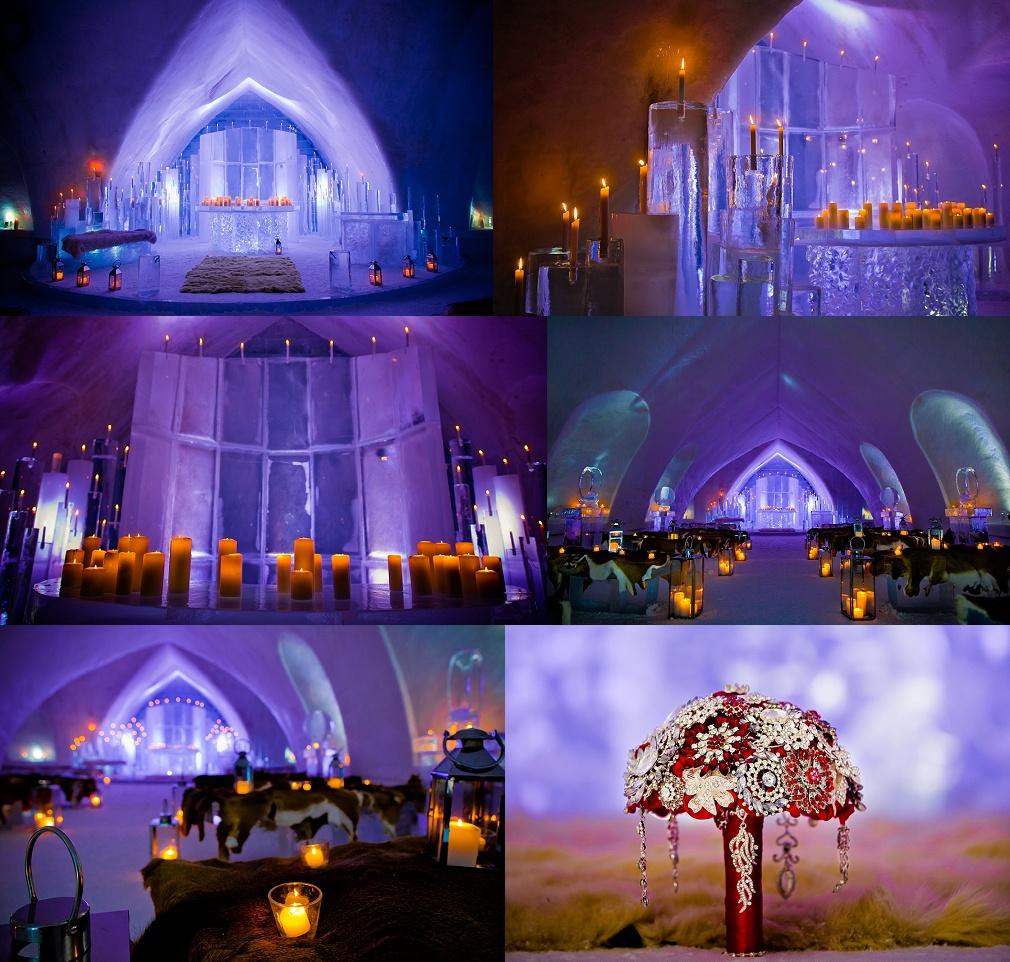 Ice hotel wedding ceremony quebec