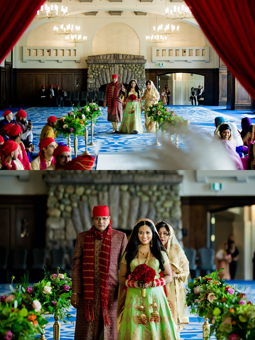 Fairmont Chateau indian wedding ceremony Banff