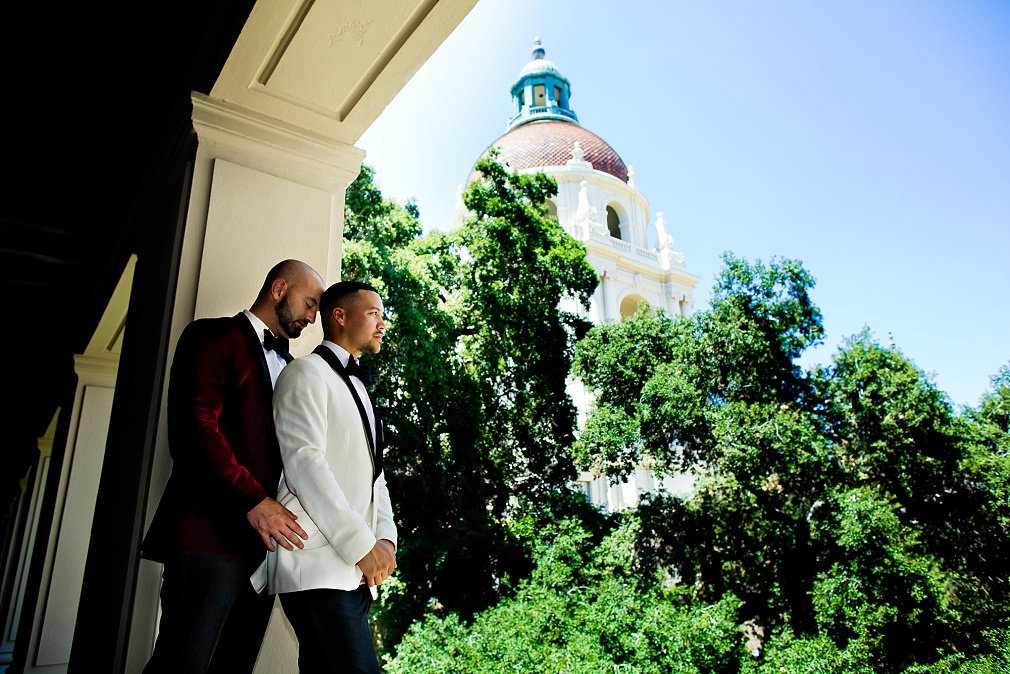 gay wedding in Pasadena, CA