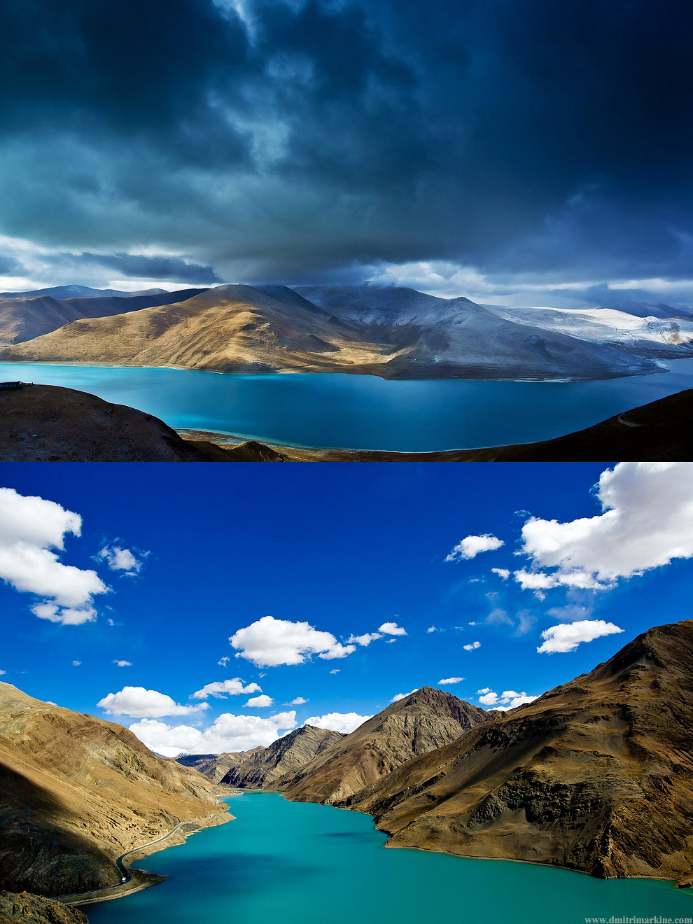 high altitude lakes in Tibet with amazing landscapes