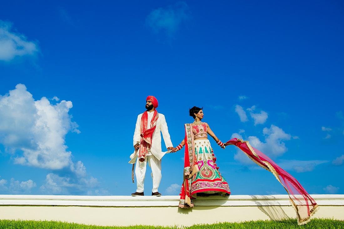 Hindu Cancun Mexico wedding photography