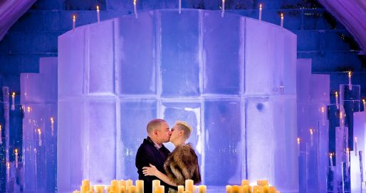 Ice Hotel wedding in Quebec