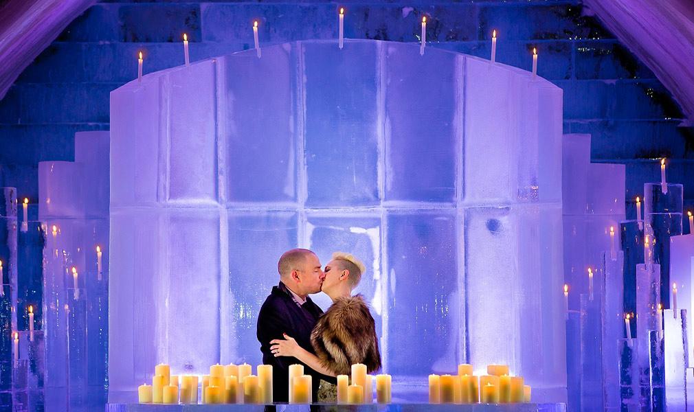 Ice Hotel wedding in Quebec
