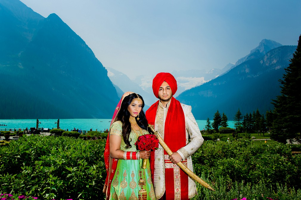 Indian wedding Lake Louise