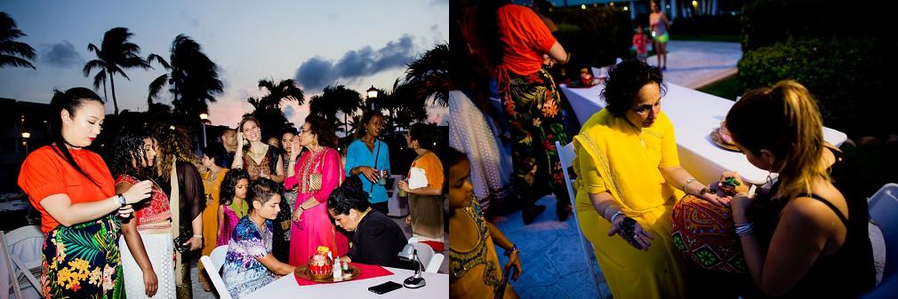 mexico resort marriage reception