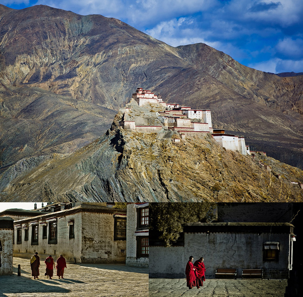 Mountain top monastery in Tibet