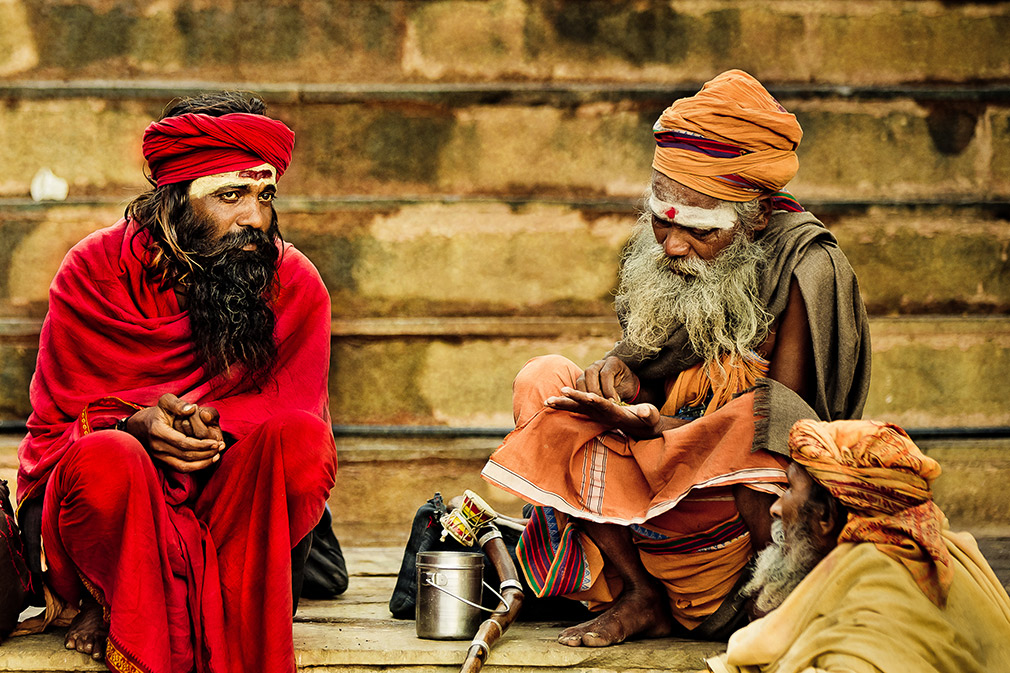 old wrinkly men in India