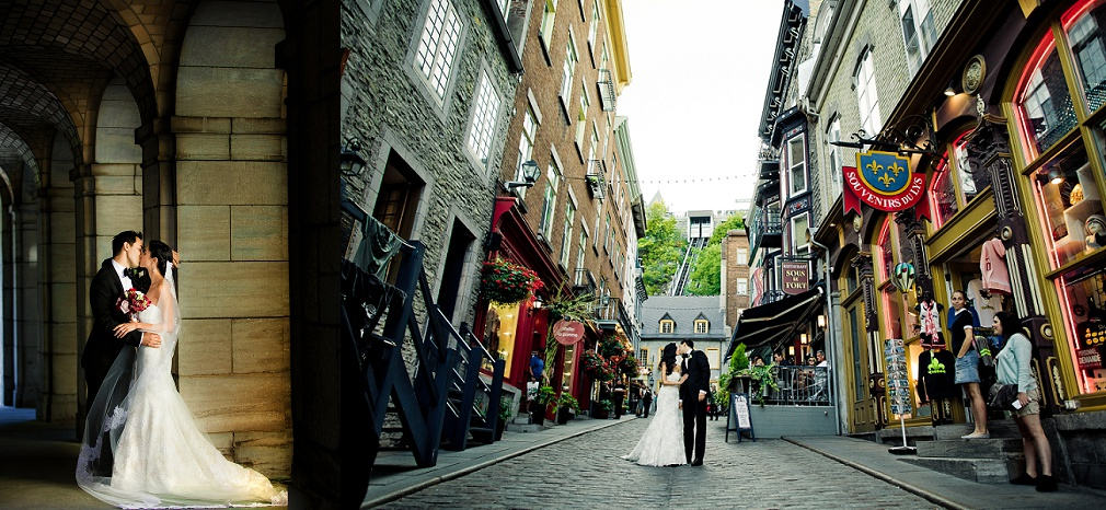 Old Quebec wedding photography