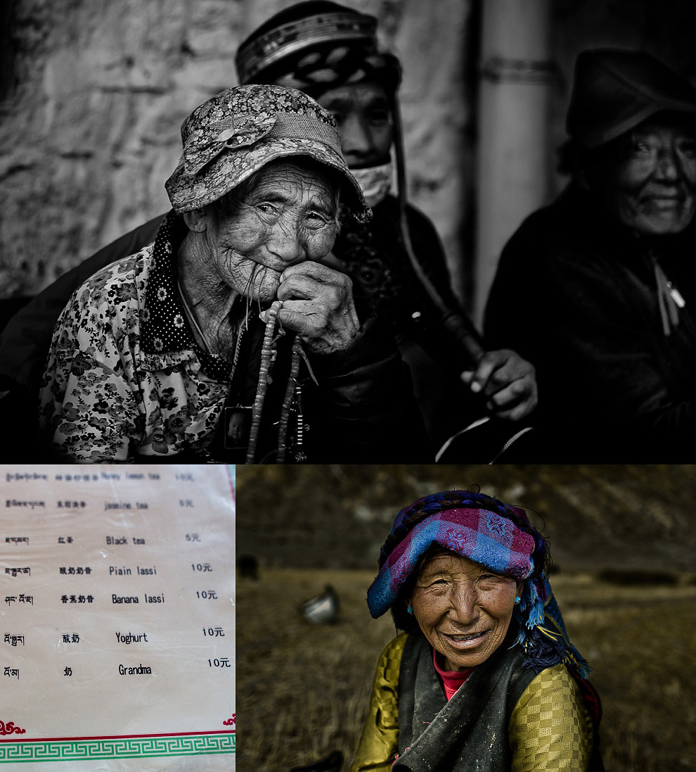 wrinkly old people in Tibet
