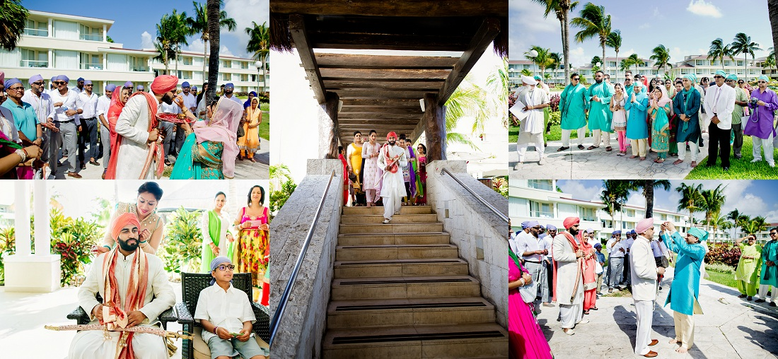 south asian sikh hindu ismaili weddings in Cancun