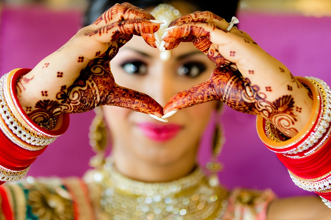 South Asian Sikh Indian bride portrait