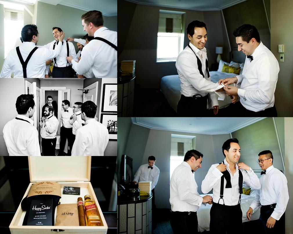 wedding in Fairmont hotel